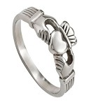 Stainless Steel Claddagh Ring for Men - JSS0012