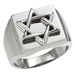 Overlap Star of David Stainless Steel Ring - JSS0024