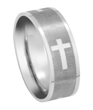 Stainless Steel Cross Ring - JSS0033
