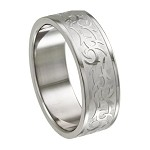 Men's Intricate Tribal Laser Design Ring - JSS0044
