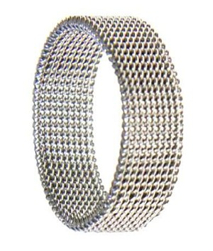 Stainless Steel Mesh Ring - JSS0173