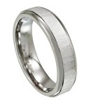 Stainless Steel Wedding Band for Men, Polished Rounded Edges | 6mm