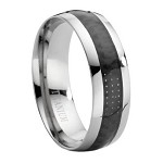 Titanium Ring with Carbon Fiber Inlay - JT0002