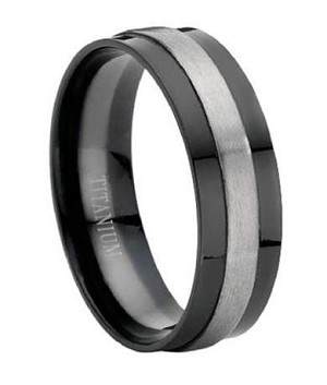 Titanium Black Wedding Band - JT0004