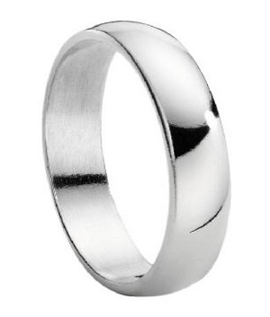 Titanium Wedding Ring for Men with Polished Domed Profile | 5mm