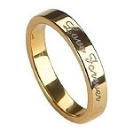 Gold-Plated Tungsten Love Forever Ring - JTG0055