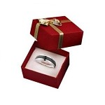 Red  Bow Tie Ring Box - JRB0102