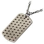 Stainless Steel Multi-Hole Gunmetal Finish Pendant