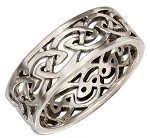Sterling Silver 8MM Open Celtic Knot Band