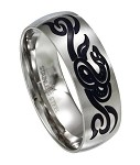 Stainless Steel Serpent Tribal Ring - JSS0042