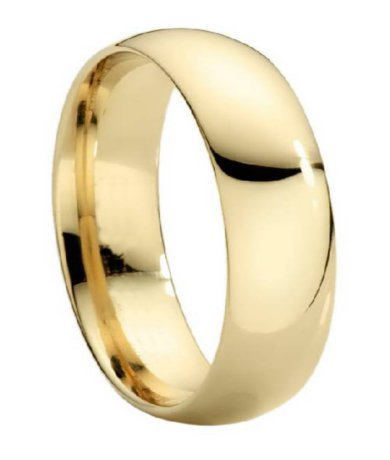 mens gold wedding bands - Mens Gold Wedding Rings