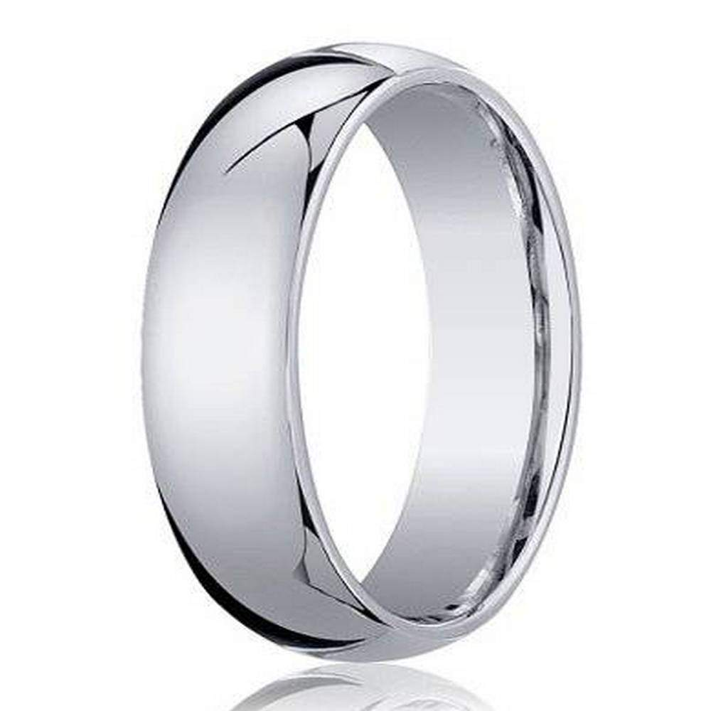 Men's Gold - White 10K Wedding Rings