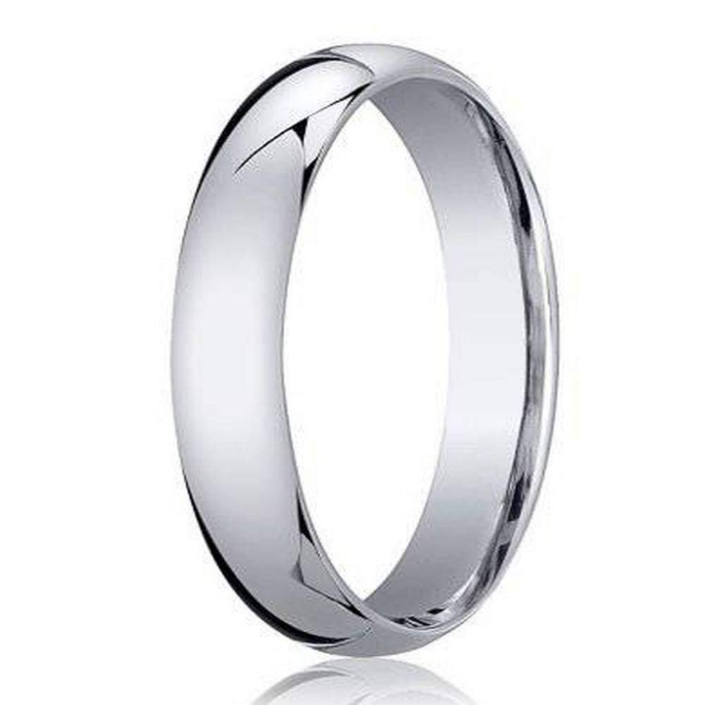 Sizes 4-15 Benchmark 10K Yellow Gold 4mm Slightly Domed Standard Comfort-Fit Wedding Band Ring