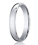 Designer 4 mm Domed Comfort-fit 10K White Gold Wedding Band - JB1008