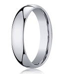Designer 5 mm Domed Comfort-fit 10K White Gold Wedding Band - JB1009