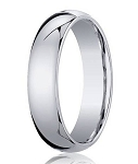 Designer 6 mm Domed Comfort-fit 10K White Gold Wedding Band - JB1010