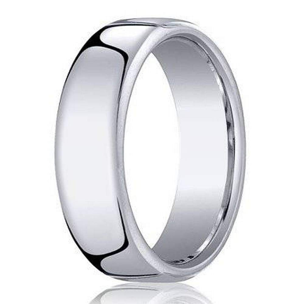 benchmark men's cobalt chrome wedding ring with euro heavy fit