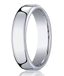 Heavy Fit Designer Men's Wedding Ring in 10K White Gold | 6.5mm