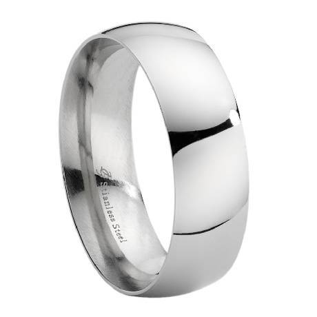 home mens metal rings stainless steel 8mm stainless steel wedding ring - Stainless Steel Wedding Rings