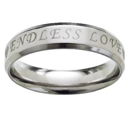Stainless Steel Endless Love Ring Jss0049