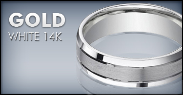 Mens 14K White Gold Wedding Bands JustMensRingscom