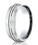 Platinum Designer 950 Men's Wedding Ring With Center Cut | 6mm