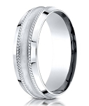 Designer 950 Platinum Glass Finish Men's Wedding Ring | 7.5mm
