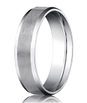 Designer Palladium Men's Wedding Ring With Beveled Edges | 6mm