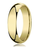 Designer 5 mm Domed Comfort-fit 10K Yellow Gold Wedding Band - JB1003