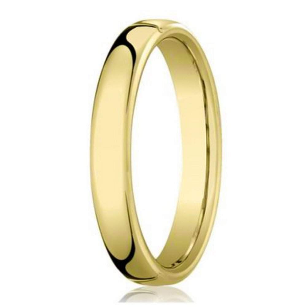 Designer 14K Yellow Gold Men\'s Wedding Band, Traditional | 4.5mm