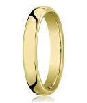 14K Yellow Gold Men's Designer Heavy Comfort Fit Wedding Band | 5.5mm