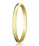 Designer 2 mm Traditional Domed Polished Finish 10K Yellow Gold Wedding Band - JB1081