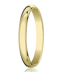 Designer 4 mm Traditional Domed Polished Finish 14K Yellow Gold Wedding Band - JB1070