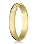 Designer 5 mm Traditional Domed Polished Finish 10K Yellow Gold Wedding Band - JB1084