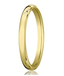 Heavy Comfort Fit 18K Yellow Gold Men's Designer Wedding Ring | 3.5mm