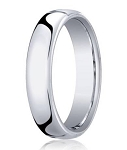 Designer Men's 18K White Gold Wedding Ring, Heavy Comfort Fit | 5.5mm