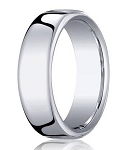 Classic Heavy Fit Men's 18K White Gold Wedding Ring | 7.5mm