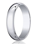 Traditional Fit Men's Designer Wedding Band in 18K White Gold | 5mm