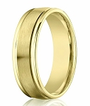 Designer 18K Yellow Gold Wedding Band for Men, Double Ridge | 4mm