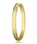 Classic Yellow Gold Designer Men's Wedding Ring in 18K | 3mm