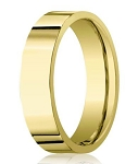 14K Men's Designer Yellow Gold Wedding Band, Polished Finish | 6mm