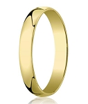 Men's Designer 14K Yellow Gold Wedding Ring, Polished Finish | 4mm