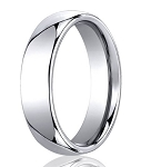 Designer Cobalt Chrome Slight Domed Wedding Ring with Polished Finish | 6mm - JBCB1004