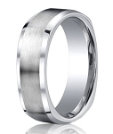 Designer Cobalt Chrome Beveled Edge Men's Wedding Ring | 9mm