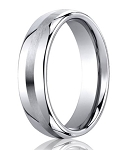 Designer Cobalt Chrome Satin Center Men's Wedding Ring | 7.5mm