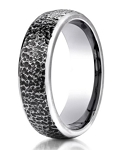Designer Cobalt Chrome Hammered Finish Men's Wedding Ring | 7.5 mm