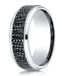 Designer Cobalt Chrome Designer Men's Ring with Micro-Hammered Finish | 9mm