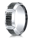 Micro-Hammered Finish Cobalt Chrome Designer Ring for Men | 10mm