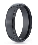 Men's Black Seranite Wedding Ring with Domed Profile | 7mm - JBCS1003