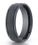 Designer Seranite Satin Finish Domed Men's Wedding Ring | 8mm